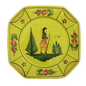 Octagonal Plate - Soleil Yellow Man