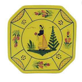 Octagonal Plate - Soleil Yellow Woman