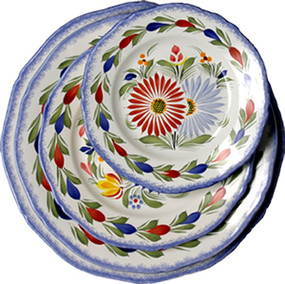 Fluted Plate - Fleuri Royal
