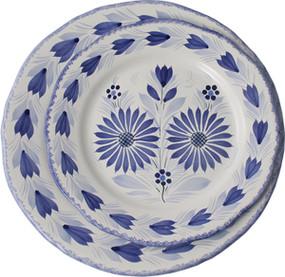Fluted Plate - Camaieu Blue