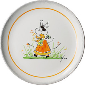 Child Plate - Fred Quellec - Girl
