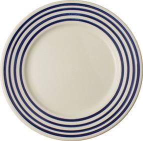 Round Plate - Breton Stripes Blue