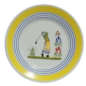 Round Plate - Golf - Woman