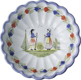 Scalloped Serving Bowl - Mistral Blue