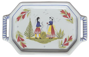 Tray - Mistral Blue Couple Quimper