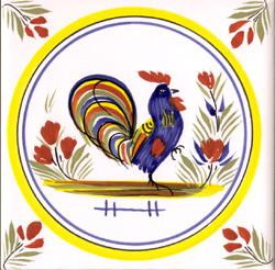 Coq - Henriot w/ Yellow Circle Tile