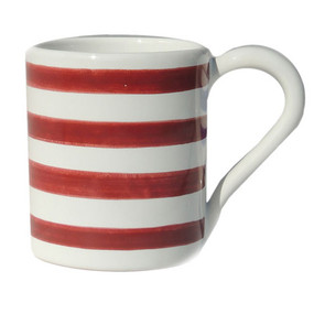 Coffee Mug - Breton Stripes Red