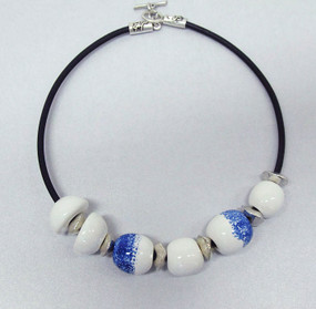 Necklace - Lena Eponge Bleu