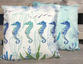 Seahorse Pillow - A Good Catch - IN STOCK