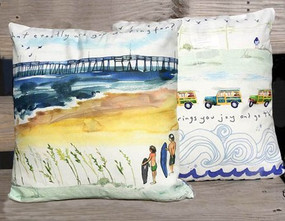 Surfing The Pier Pillow - A Good Catch - IN STOCK