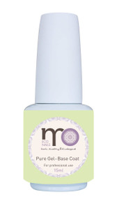 MO Nails Pure Gel-Base Coat, Innovative no-acid formula, No damage to natural nails, Solid structure film formed after UV/LED curing (thus protecting the natural nail and preventing pigment problems), Creates good adhesion without needing to file the nail surface.