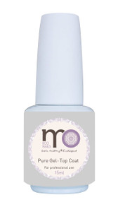 MO Nails Pure Gel-Top Coat, Advanced formula, damage-proof, No chipping or cracking, Perfect self leveling, Mirror-like finish, sealing the color to be high gloss and long lasting.