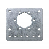 15mm Metal Flat Motor Bracket - 10 Pack