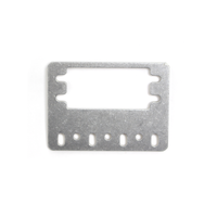 15mm Metal Flat Servo Bracket V2 - 4 Pack