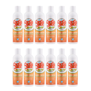Twelve 8oz, 20 SPF, sunscreen/repellent bottles