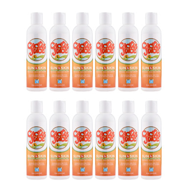 Twelve 8oz, 20 SPF, sunscreen/repellent bottles