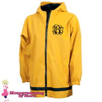 Charles River Youth New Englander Rain Jacket (Yellow)