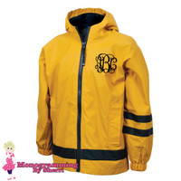 Charles River Childrens New Englander Rain Jacket (Yellow)