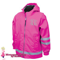 Charles River Childrens New Englander Rain Jacket (Hot Pink)
