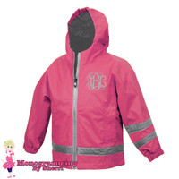 Charles River Toddlers New Englander Rain Jacket (Hot Pink)