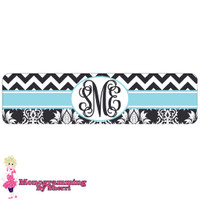 Chevron & Damask (Black & White) Cuff Bracelet