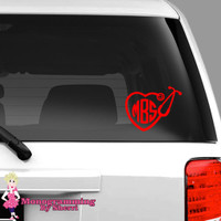 Stethoscope Heart Car Decal FREE SHIPPING