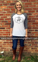 Lab Monogram Ladies Baseball Tee