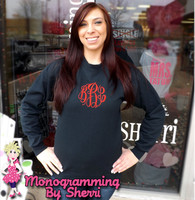 Crew Sweatshirt with Center Chest Monogram