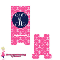 Pink Anchor Personalized Phone Stand