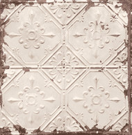 Tin Ceiling Beige Distressed Tiles Wallpaper