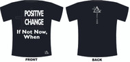 Promote your passion for making a positive impact on the world with the Positive Change Black / White t-shirt.  SockTips is offering this design as part of a promotional opportunity with a local non-profit dedicated to advancing social causes.