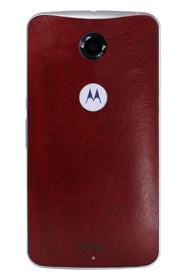 Nexus 6 Leather (NEX6-L) Syrah back panel