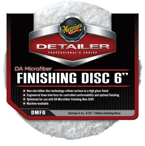 "Meguiar's DA Microfiber Finishing Disc 6"" (2 pack)"