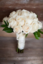 Antique White Rose Bouquet