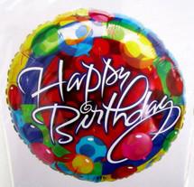 Red Bubbles Happy Birthday Balloon