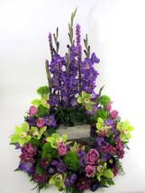 Lavender Urn Wreath