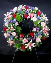 Stargazer & Rose Wreath