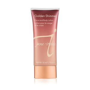 Golden Shimmer Face and Body Lotion creates a subtle veil of shimmer designed to warm and smooth the complexion.