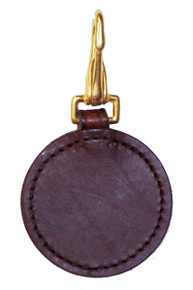 Hip # Tag Round Leather with snap