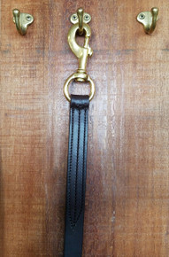 Shank Leather Brass Swival Snap