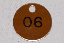 Nameplate 1 Sided Round Tag