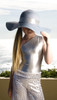 Girls aysmmetric shimmer one piece silver