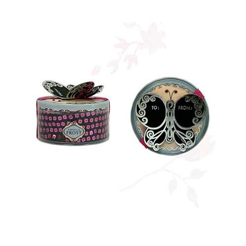 Black Tie Flutter By Leggings - Metallic Pink