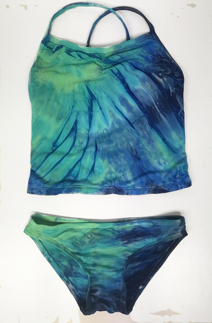 Girls tankini two piece swim- sea