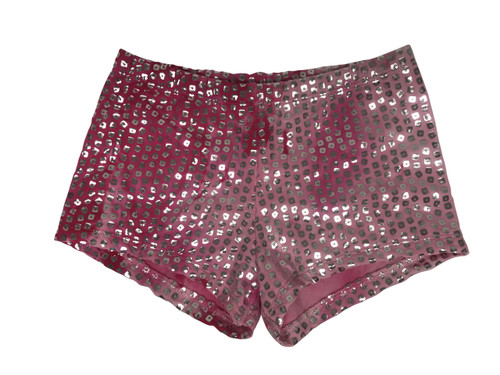 Girls dance shorts- Silver shimmer tie dye- Camilla pink
