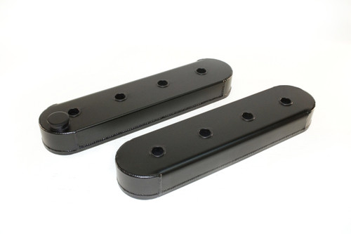 4034627 - GM LS Series, Without Coil Stand Offs, Modified for Racing Rockers, Black, Pair