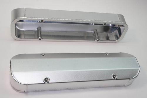 4045510 - Pontiac 301-455, Short Design, Satin Silver Anodized