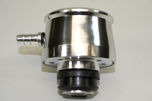 4120429 - Valve Cover Breather, Push-in style, Polished Aluminum with Element and Grommet and Vent Pipe