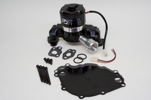 4430217 - Small Block Ford 302-351W, Die Cast Aluminum, Black, Kit Incl. Backplate, Hardware and Pig Tail