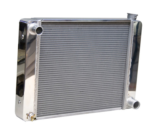 5401925 - GM Racing Radiator, Polished End Tanks and Top Cover, Multiple Mounting Bungs, Incl. Drain petcock - 19in x 25in